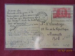 Carte De 1939  Avec No 423 - 1921-1960: Periodo Moderno