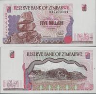 Zimbabwe 1997 - 5 Dollars Pick 5 UNC - Zimbabwe