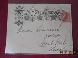 Lettre De 1903 Avec En-tete Publicitaire A Destination De St Malo - Marcophilie (Lettres)