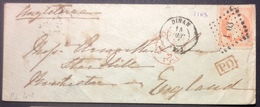 PL41 Côtes Du Nord Dinan Vers Angleterre T16 PD London Paid - 1849-1876: Période Classique