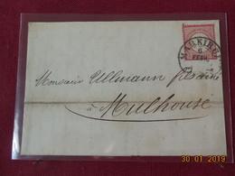 Lettre De 1875 A Destination De Mulhouse - Allemagne
