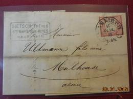 Lettre De 1873 A Destination De Mulhouse - Germany