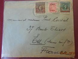 Lettre De Belgique De 1921 Pour La France (timbres Surchargés) - Belgique