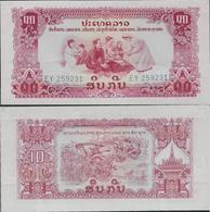 Laos ND (1968) - 10 Kip - Pick 20 UNC - Laos