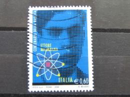 *ITALIA* USATI 2006 - CENT ETTORE MAJORANA - SASSONE 2926 - LUSSO/FIOR DI STAMPA - 6. 1946-.. Repubblica