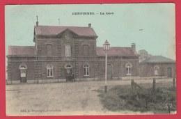 Gerpinnes - Top Carte - La Gare ... Carte Couleur - 1908 ( Voir Verso ) - Gerpinnes