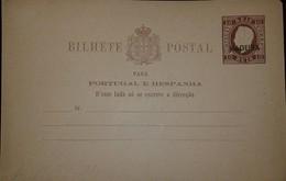 O) 1870 CIRCA -PORTUGAL MADEIRA, KING LUIZ 10r TYPOGRAPHED AND EMBOSSED, POSTAL STATIONERY - PORTUGAL E HESPANHA, XF - Postal Stationery