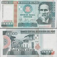 Peru 1988 - 10000 Intis - Pick 140 UNC - Perú