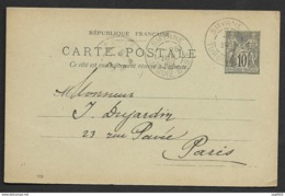 Entier Type Sage Avec Cachet Smyrne Turquie D'Asie - Postmark Collection (Covers)