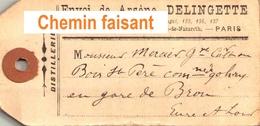 Etiquette ARSENE DELINGETTE Distillerie Paris 75. - Scans Recto Verso - Labels