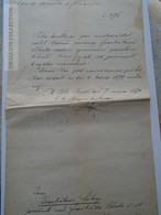 ZA179.21 Old Document- Czechia Mirošov (Brod)  1870 - Franciscus Sebesta - SUKUP - Wedding