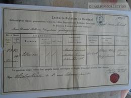 ZA181.1  Old Document-  Hungary  SZOLNOK - Julianna (1840) -BALÁZS- SZÖLLÖSI - 1865 - Naissance & Baptême