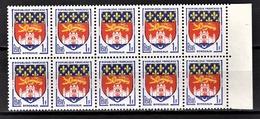 FRANCE 1958 - BLOC DE 10 TP / Y.T. N° 1183 - NEUFS** - France