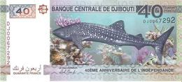 Djibouti - Pick New - 40 Francs 2017 - Unc - Commemorative - Gibuti