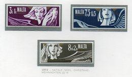 Malta - 1972 - Natale - 3 Valori - Nuovi - Vedi Foto - (FDC14039) - Malta