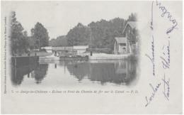 ANIZY-LE-CHATEAU - ECLUSE ET PONT DU CHEMIN DE FER SUR LE CANAL - BELLE CARTE PRECURSEUR ANIMEE - 1901 - Autres Communes