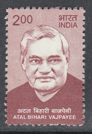 INDIA 2018  Definitive, ATAL BEHARI VAJPAYEE Definitives  Ex Prime Mininister Of INDIA, 1v, MNH(**) - India