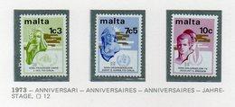 Malta - 1973 - Anniversari - 3 Valori - Nuovi - Vedi Foto - (FDC14042) - Malta