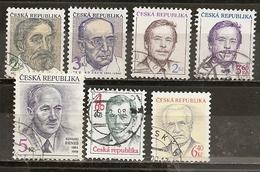Czech Republik Small Collection Portraits Obl - Postzegels