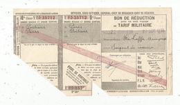Bon De Réduction Au Tarif Militaire , Grands Réseaux Et Grande Ceinture, Chemin De Fer, 1938 ,  Frais Fr 1.55 E - Titres De Transport