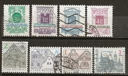 Czech Republik Small Collection Buildings Etc Obl - Stamps
