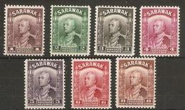 SARAWAK 1934 VALUES TO 8c SG 106/112 UNMOUNTED MINT - Sarawak (...-1963)