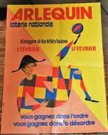 Rare Affichette 30x40 Cm Loterie Nationale Tirage Arlequin Années 70-80 - Affiches