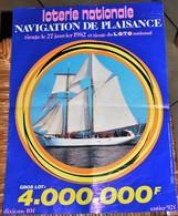Rare Affichette 30x40 Cm Loterie Nationale Tirage Navigation De Plaisance Du 27 Janvier 1982 - Posters