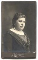 Woman Dress Fashion, Vintage Cabinet Photo On Cardboard, Atelier F. Svirčević Essegg, Osijek Croatia, D 105 X 65 Mm - Fotos Dedicadas