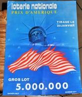 Rare Affichette 30x40 Cm Loterie Nationale Tirage Prix D'Amérique Tirage Du 30 Janvier Années 70-80 - Posters