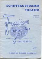Berlin - Schiffbauerdamm Theater - Operette Von Walter Kollo 1940 - 20 Seiten Mit 13 Abbildungen Der Schauspieler - Theatre & Scripts