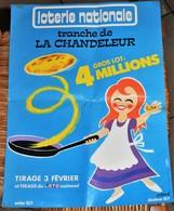 Rare Affichette 30x40 Cm Loterie Nationale Tirage Tranche De La Chandeleur Du 3 Février Dessin De Raoul   Années 70-80 - Posters