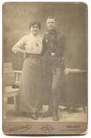 K.u.K. Soldier Bayonet, Vintage Cabinet Photo On Cardboard, Atelier A. Wollner Essegg, Osijek Croatia, D 160 X 105 Mm - Foto Dedicate