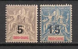 Indochine - 1908 - N°Yv. 22 Et 23 - Groupe - Série Complète - Neuf Luxe ** / MNH / Postfrisch - Indochine (1889-1945)
