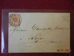 Lettre De Belgique De 1881 Pour Noyon - Postmark Collection