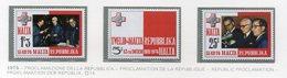 Malta - 1975 - Proclamazione Della Repubblica - 3 Valori - Nuovi - Vedi Foto - (FDC14045) - Malta