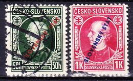 Slovaquie 1939 Mi 24-5 (Yv 30-1) Obliteré, - Gebraucht