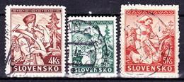 Slovaquie 1939 Mi 43-5 (Yv 47+51-2) Obliteré, - Used Stamps