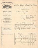 Vieux Papier - Allier 03 - Société Des Mines De Bourbon Saint-Hilaire - Huiles Minérales - Frobert - Juillet 1908 - France