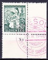 Slovaquie 1939 Mi 43 (Yv 47) Obliteré, No De Planche A 1 - Slowakische Republik