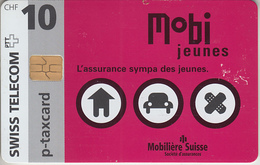SWITZERLAND - PHONE CARD - °TAXCARD SUISSE * CHIP  ***  ASSURANCES - MOBI  *** - Switzerland