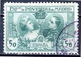 SPAGNA 1907 - Exposicion Industrias De Madrid - 1 Val. Usato / Used Come Da Scansione. - 1889-1931 Regno: Alfonso XIII