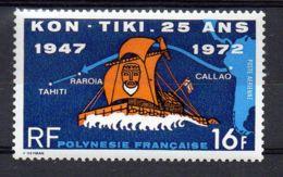 POLYNESIE ( AERIEN ) : Y&T  N°  64  TIMBRE  NEUF  AVEC  TRACE  DE  CHARNIERE . - Luftpost