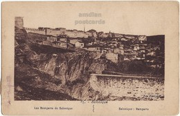 GREECE THESSALONIKI BYZANTINE WALLS UPPER CITY C1910s SALONICA RAMPARTS POSTCARD - Greece