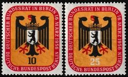 Série De 2 Timbres-poste Neufs** - Réunion à Berlin Du Conseil Fédéral - N° 121-122 (Yvert) - Allemagne Berlin 1956 - Neufs