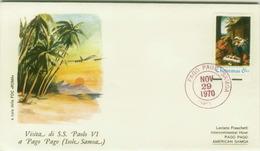SAMOA ISLANDS - POPE PAUL VI - FIRST DAY ISSUE - STAMP - 29 NOV. 1970 ( BG1) - American Samoa