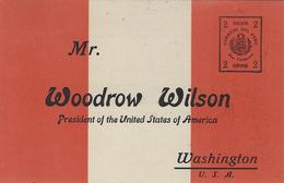 1er Janvier 1919- E P 2 Centavos Péruvien  ( Non Utilisé) Adressé Au Président Des Etats-Unis - Timbres