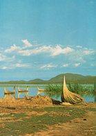 ETHIOPIA REED BOATS ON LAKE MARGUERITA CARTE PHOTO - Ethiopie