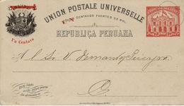 1er Janvier 1902- E P Péruvien   à 1 Centavo Pour Les Souhaits De Nouvelle Année  ( Repiquage ) - Timbres