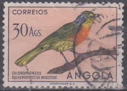 Angola Vögel 1951: Mi 360 30 A. Gestempelt - Angola